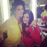 Lucy Hale and Angie Harmon got their hair and makeup done together. Source: Instagram user lucyhale89
