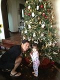Mario Lopez and his daughter, Gia, decorated their Christmas tree.  Source: Twitter user MarioLopezExtra