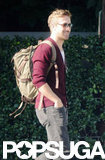 Ryan Gosling carried a backpack in LA.