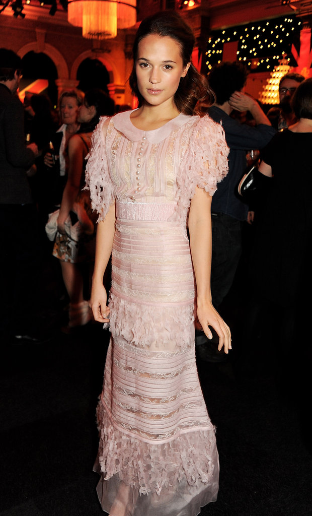 Alicia Vikander posed at the BIFAs.