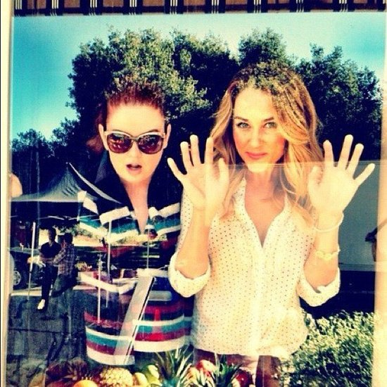 Lauren Conrad went window-shopping with a friend. Source: Instagram user kristin_ess