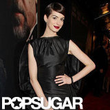 Anne Hathaway wore a bold red lip to the NYC premiere.