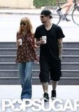 Nicole Richie and Joel Madden picked up coffee in Sydney.