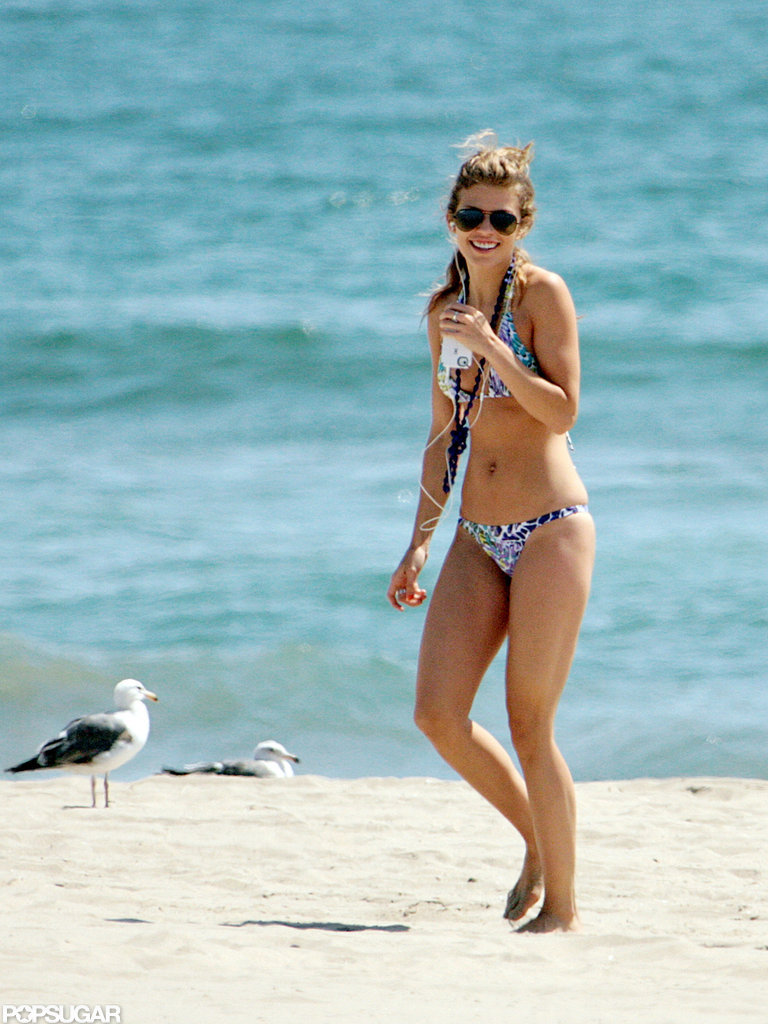 In May 2012, AnnaLynne McCord showed off her bikini body on the beach in LA.