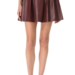 This One by Boundary vegan leather oxblood skirt ($99), which also comes in black, has a perfectly poufy silhouette. We would wear it with a chunky ivory turtleneck sweater for a cozy chic vibe.