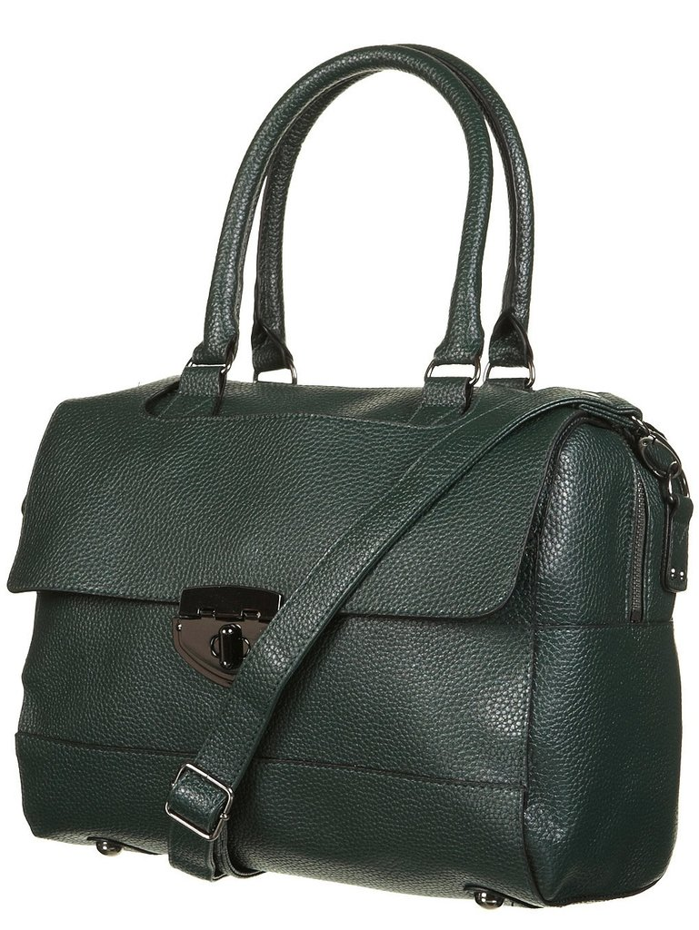 There's nothing like a Topshop twistlock bowling bag ($76) to provide that much-needed pop of green into your ensemble.