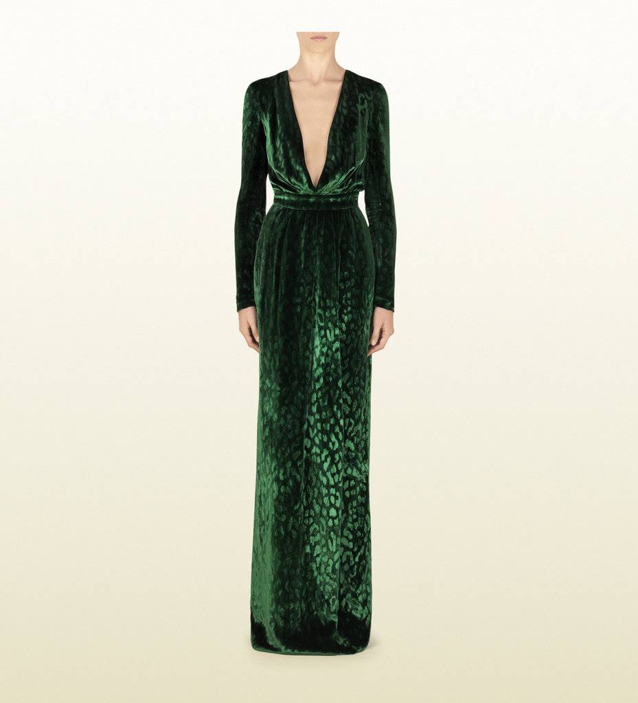 We've seen both model Natasha Poly and Kim Kardashian dare to wear this beautiful velvet Gucci deep V-neck gown ($2,249, originally $4,500), and since this sexy investment just happens to be on sale, we thought we'd suggest it as something you may want to splurge on this holiday season.