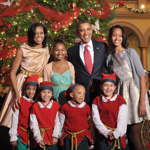 Obamas at Christmas in Washington 2012