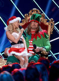 Kristin Chenoweth played Santa with Trace Adkins.