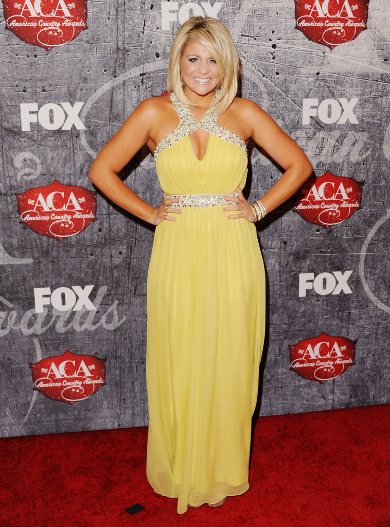 Lauren Alaina posed on the red carpet.