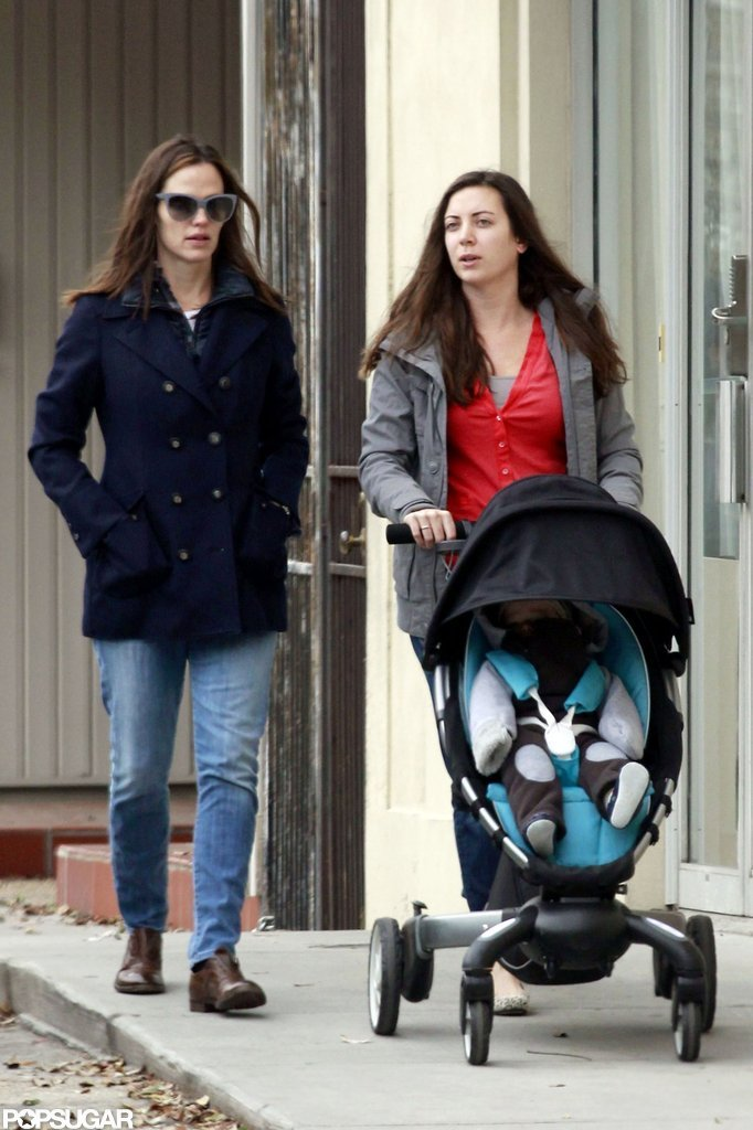 Jennifer Garner took Samuel on a stroll in New Orleans.