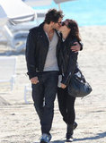 Rumer Willis and boyfriend Jayson Blair kissed in Miami in November.