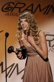 Taylor Swift celebrated her pretelecast Grammy award in January 2010.