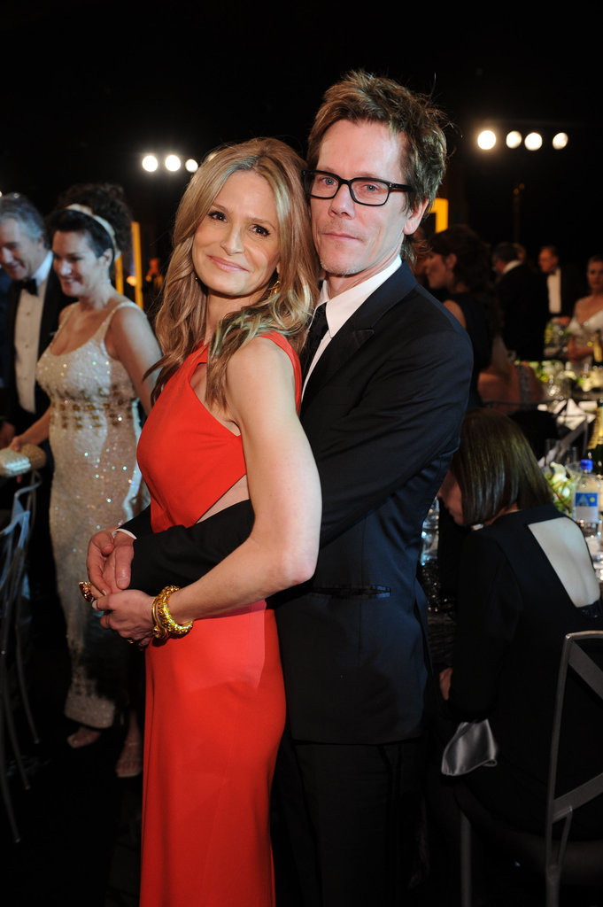 "Adorable couple Kyra Sedgwick and Kevin Bacon assumed the traditional ""prom pose"" in January at the SAG Awards."
