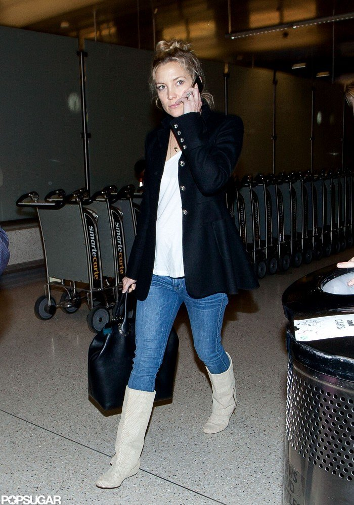 Kate Hudson stepped out at the airport in LA.