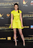 Kristen Stewart wowed in a bright yellow Christian Dior dress for the Madrid premiere of Breaking Dawn Part 2 in November.