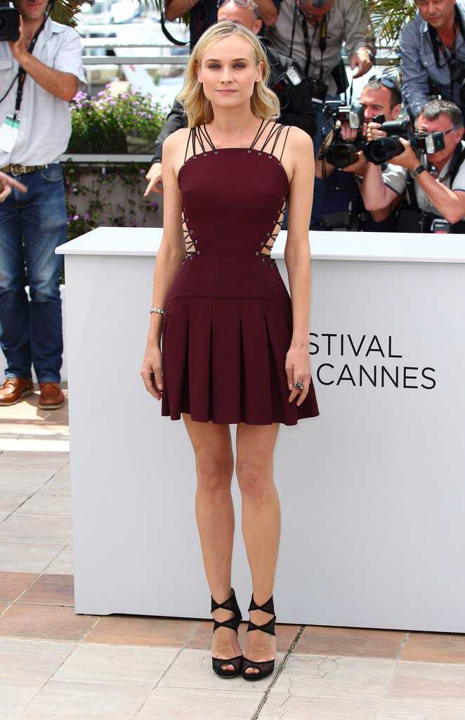 Diane Kruger killed it at the Cannes Film Festival in May, and her maroon Versus minidress was just one of her many show-stealing looks.
