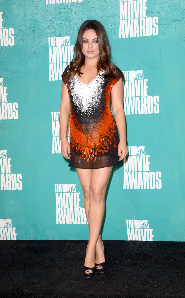 Mila Kunis was on fire in a glittery Fendi mini at the MTV Movie Awards this June.
