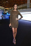 Joan Smalls wore a supershort, supersheer minidress while in Russia this October.