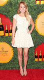 Lauren Conrad wore a white minidress from her Paper Crown collection to the Veuve Clicquot Polo Classic in October.