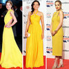Red Carpet Gowns in Trendy Yellow