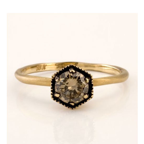 18 carat yellow gold and brown diamond ring, from $2,700, Satomi Kawakita
