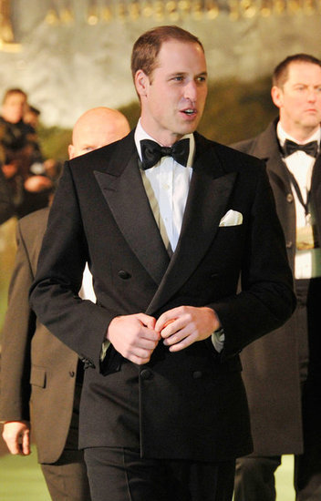 Prince William attended the premiere without wife Kate Middleton.
