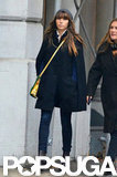 Jessica Biel took a walk around NYC solo.