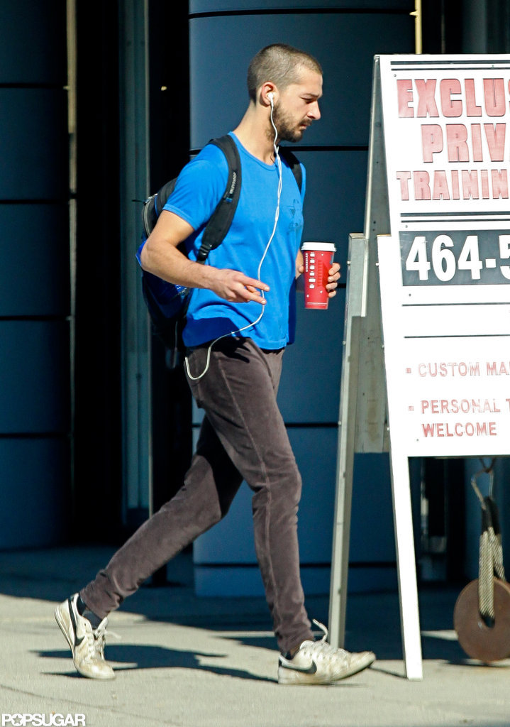 Shia LaBeouf kept busy in LA yesterday.