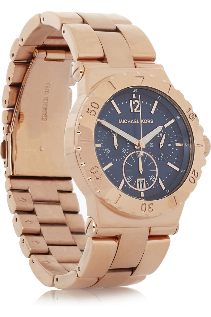 Your friend will think of you every time she dons this handsome, menswear-inspired Michael Kors Stainless Steel Chronograph Watch ($125, originally $250).