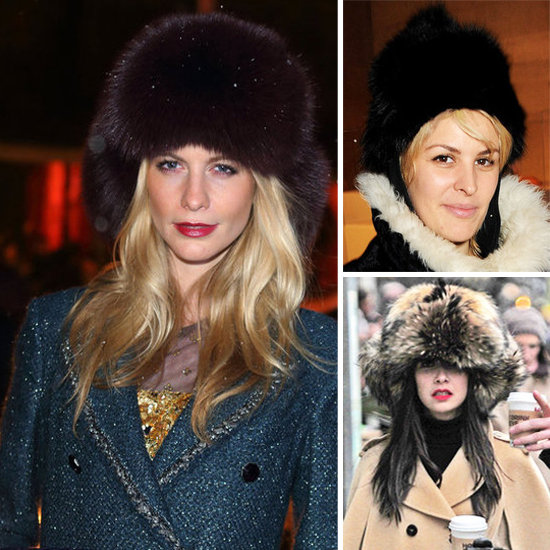 8 Trendy Brits Keep Warm In 8 Oversised Fur Hats
