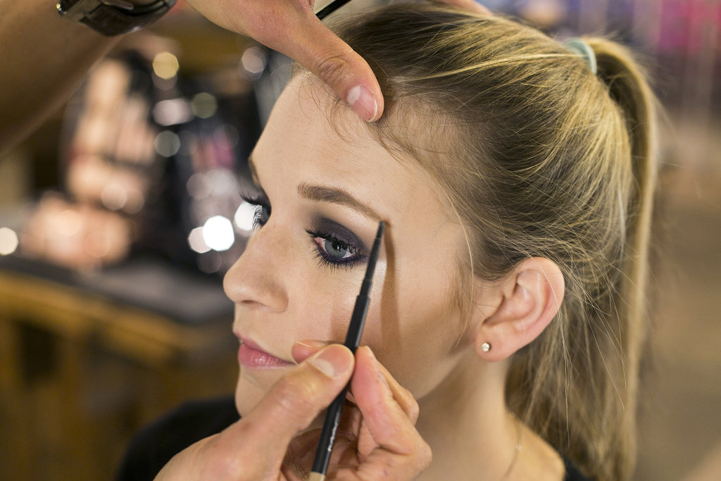 """You want to use a brow pencil to fill in the shape you already have,"" Jennings explains. You're not creating a bold brow, but rather grooming it, so it complements the smoky eye rather than competing with it."