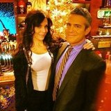 Andy Cohen and Bethenny Frankel shared some holiday spirit on Watch What Happens Live. Source: Instagram user bravoandy