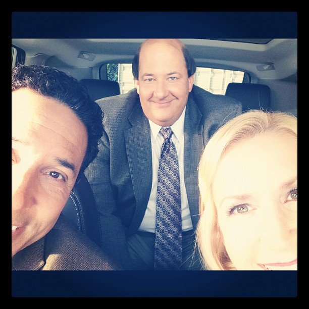 "The Office's Angela Kinsey gave us a preview of ""the accountants driving scene."" Source: Instagram user angelakinsey"