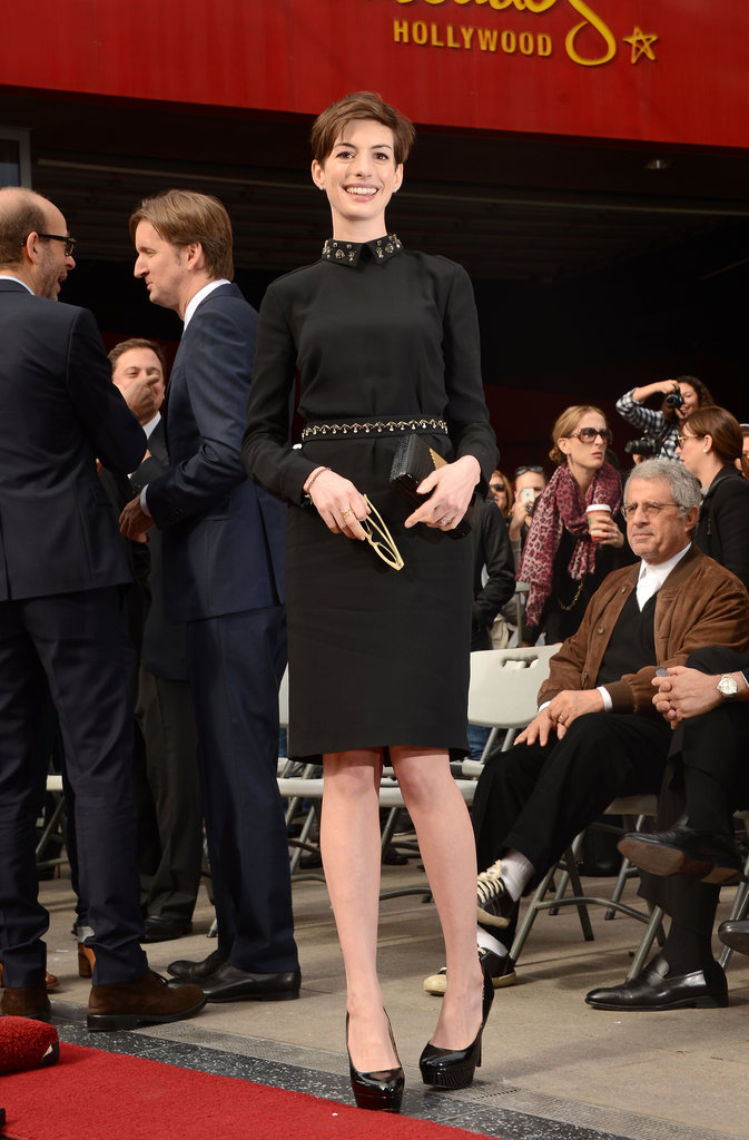 Anne Hathaway attended Hugh Jackman's ceremony.