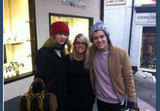 Taylor Swift and Harry Styles posed with a fan. Source: Twitter user Magda