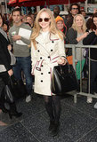 Amanda Seyfried toted an Alexander McQueen bag.