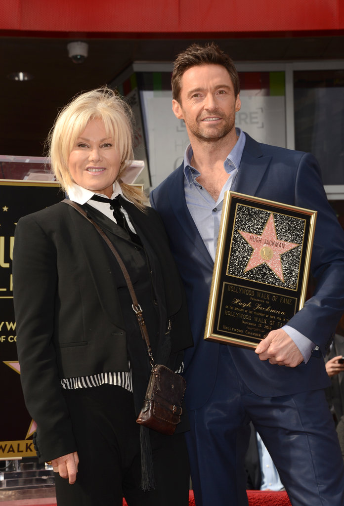 Hugh Jackman's wife, Deborra-Lee Furness, posed.