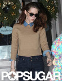 Kristen Stewart ate lunch at Sarabeth's.