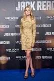 Rosamund Pike posed at the Madrid premiere of Jack Reacher.