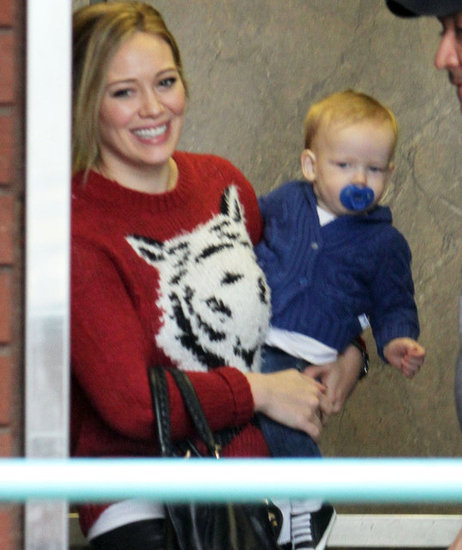 Hilary Duff Devotes the Day to Her Crawling Cutie Luca