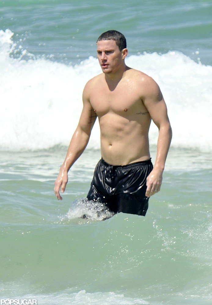 Channing Tatum took a dip while visiting Sydney, Australia, in February.