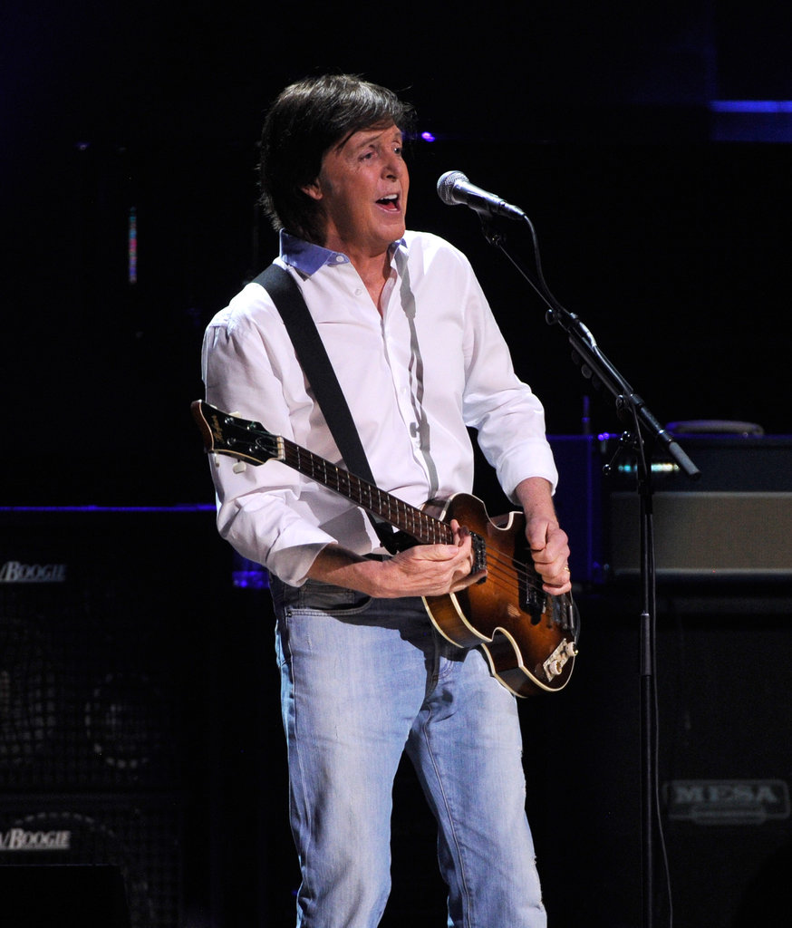 Paul McCartney performed to support the victims of Hurricane Sandy.