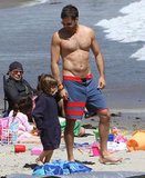 David Charvet showed off his pecs during a Malibu beach day in April.