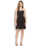 The most flattering of silhouettes and pretty black lace makes this Madewell Strapless Dress ($150, originally $198) a perfect party piece.
