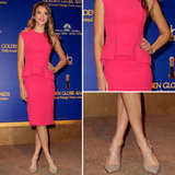 Jessica Alba in Pink Dress at Golden Globe Nominations 2012