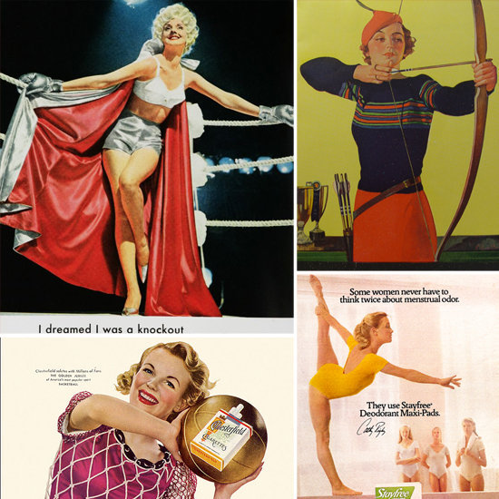 Look back at yesteryear's images of women athletes in these sporty vintage ads.