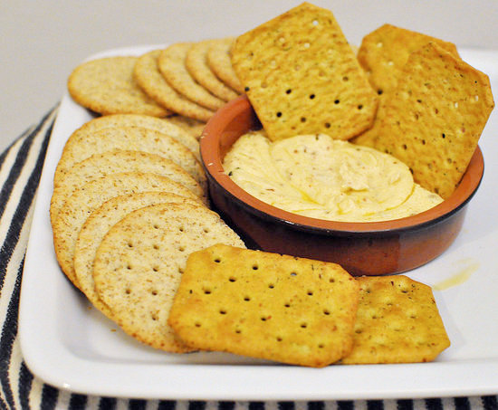 Baked Marinated Goat Cheese Dip
