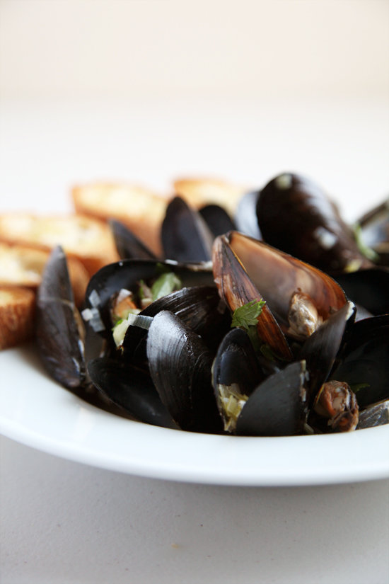 Julia Child's Moules à la Marinière