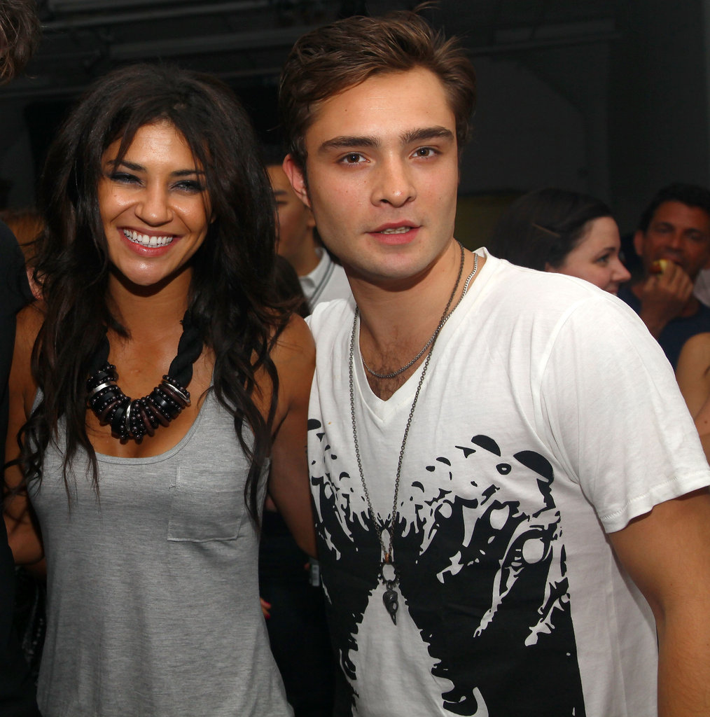 Real-life couple Jessica Szohr and Ed Westwick partied at a NYC event thrown by MAC in July 2009.